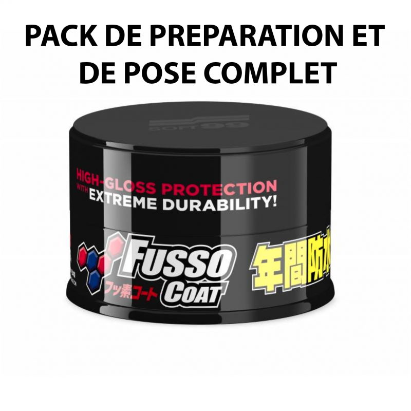 Pack Fusso Coat Dark Soft99 - Cire synthétique - AM-Detailing