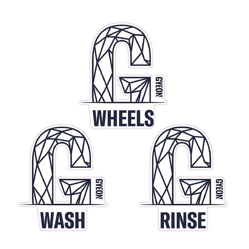 Wash Bucket stickers x3 - Gyeon Quartz - AM-Detailing
