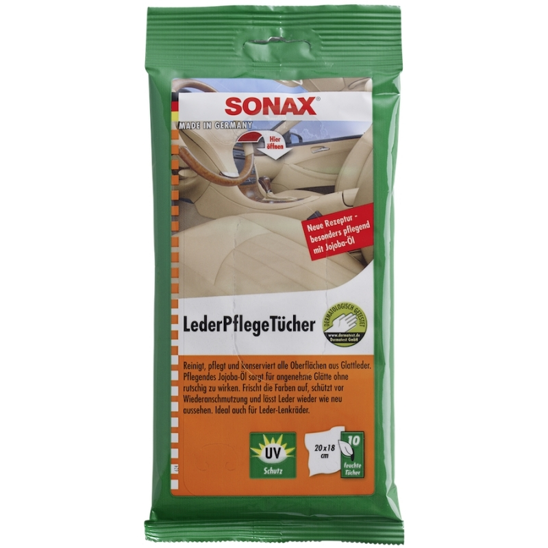 Lingettes nettoyage cuir SONAX - AM-Detailing